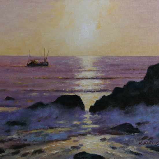 Robert Harcus - Dawn off Porters Rocks