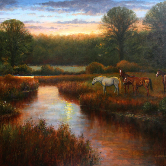 Robert Harcus - Evening at the river
