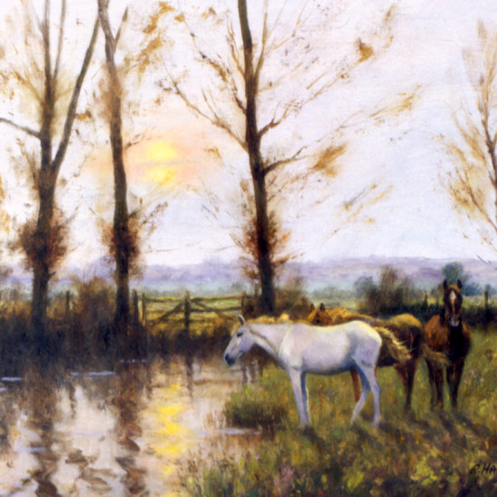 Robert Harcus - Evening near Dedham