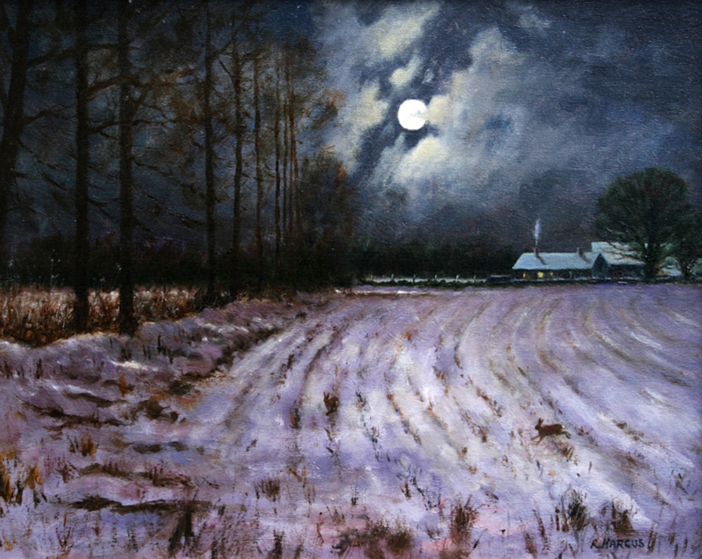 Robert Harcus - Full moon west Wicklow