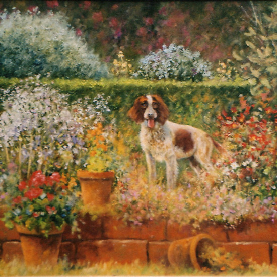 Robert Harcus - Gwen in the garden