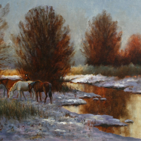 Robert Harcus - Horses in the snow