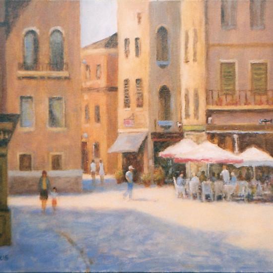 Robert Harcus - Street cafe Rome